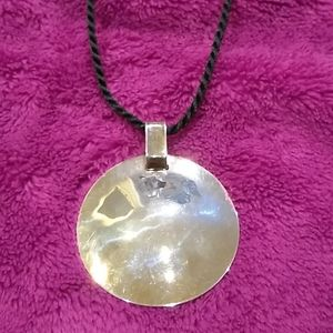 Robert Lee Morris Studio Silver Disc Pendant